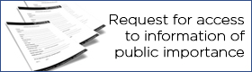 Request for access to information of public importance